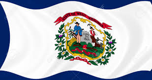 Virginia Flags Illustration Of West Virginia State Flag Waving In The Wind Stock