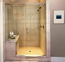 grey tile small bathroom walkin shower ideas chrome round wall