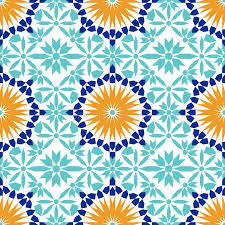 gorgeous seamless pattern from blue moroccan tiles ornaments