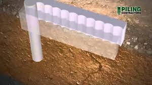 secant pile wall construction methodology youtube