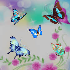 Butterfly Flower Blue Butterfly Flower Theme Android Apps On Google Play