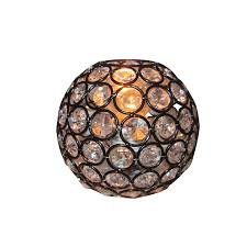 style selections ladura 4 in h 4 875 in w bronze crystal globe
