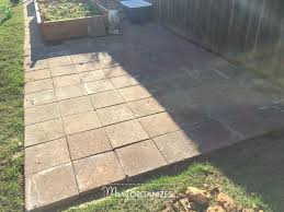 Laying Patio Pavers by How To Install A Paver Patio The Foundation Of My Raised Garden