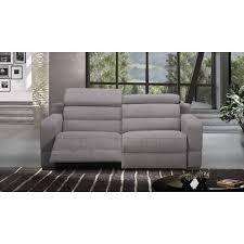 canapé 2 places electrique canapé relax électrique en cuir ou tissu au meilleur prix cosyo