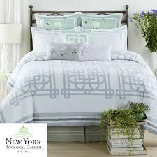 White And Teal Comforter Garden Trellis Comforter Bedding From New York Botanical Garden