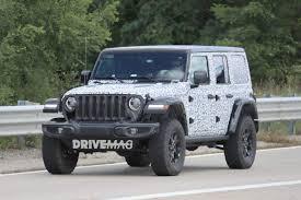 jeep wrangler rubicon offroad 2018 jeep wrangler rubicon spied sporting minimal camo