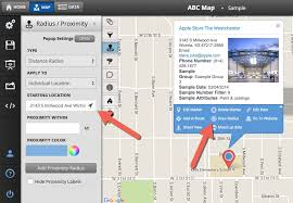 draw a radius on a map how to use the radius proximity tool maptive answer center