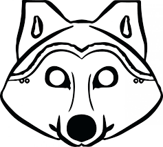 free printable coloring pages peppa pig guinea pigs wolf mask free