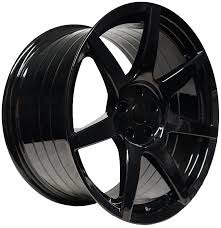 black wheels project 6gr seven gloss black finish zr spec corvette project 6gr