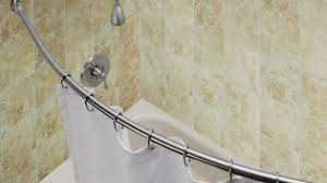 Shower Curtain For Curved Rod Shower Curtain Rods Pertaining To The House Csublogs Com