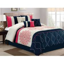 Blue And White Comforters Queen Comforter Set Navy Blue
