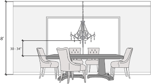 how high to hang chandelier over dining table dining room light height photo of well height light over dining