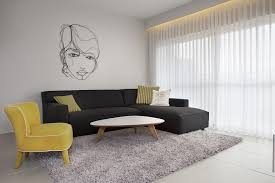 Black Sofa Living Room Contemporary Living Room Design With Simple Small Spaces Furniture