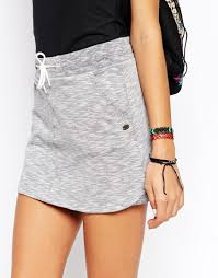 cotton skirt cotton skirt with drawstring in gray lyst