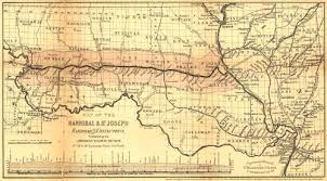 map us railroads 1860 historic railroad map of missouri 1860
