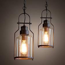 Industrial Glass Pendant Light Tarrice Industrial 1 Light Rust Metal Glass Lantern Pendant Light