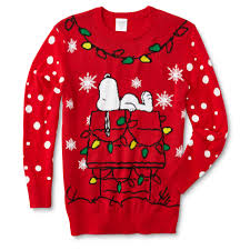 snoopy christmas sweatshirt peanuts by schulz snoopy men s christmas sweater