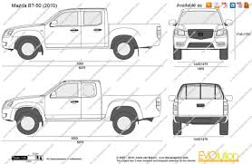 mazda bt50 the blueprints com vector drawing mazda bt 50
