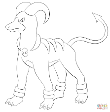 houndoom coloring page free printable coloring pages
