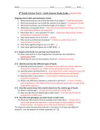 8th grade science test 3 u2013 earth science study guide