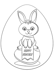happy easter coloring free printable coloring pages