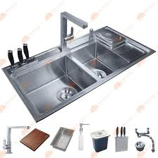 Online Get Cheap Kitchen Sink 38 1 2 inch 12mm thickness stainless steel topmount drop in double