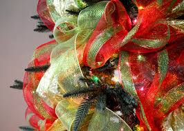 christmas mesh ribbon party ideas by mardi gras outlet christmas tree decorating with
