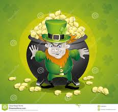pot of gold and leprechaun stock photography image 34899842