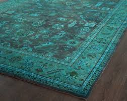 Peacock Area Rugs Lovely Turquoise Area Rug 8 10 Furniture Peacock Color On Blue