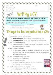 Resume English English Teaching Worksheets Curriculum Vitae Cv
