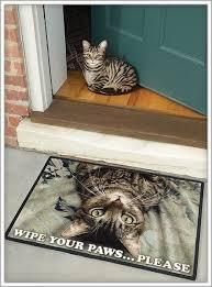 Wipe Your Paws Footprint Doormat Cat Themed Doormats U0026 Cat Doormat Kit Set Of 3 Traditional