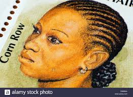 ghanians hairstyle ghanian hairstyle postage st in studio setting stock photo