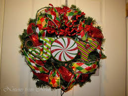 mesh christmas wreaths notions from nonny easy deco mesh christmas wreath