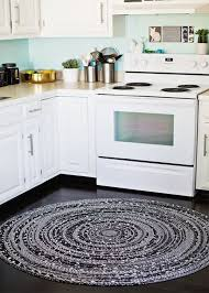Grey And White Kitchen Rugs Contemporary Kitchen Rug With Anti Bacterial Rubber