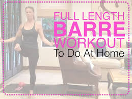 length barre workout you can do at home