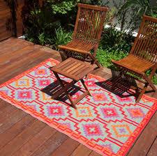 Outdoor Floor Rugs Fab Rugs Lhasa Orange 120x179cm Outdoor Indoor Plastic Modern