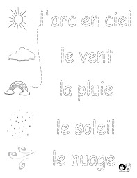 french worksheets for kids spring printout french french