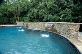 pools with waterfalls pool waterfall construction waterfall design atlanta fountain pool