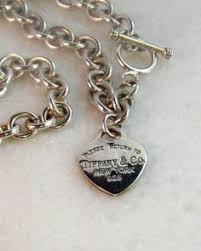 sterling silver necklace tiffany images Authentic tiffany return to tiffany heart tag choker choker jpg