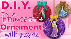 diy disney princess christmas ornaments with jrzgirlz snow