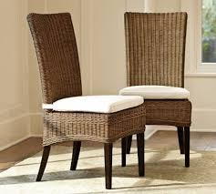 Rattan Wicker Patio Furniture Dining Tables Jacquelyne Rattan Wicker Side Chair Traditional