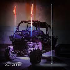 led light whip for atv atv and utv 5ft led flag pole whip lights xprite