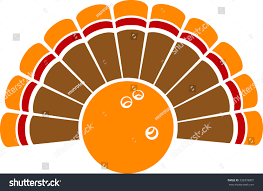thanksgiving turkey bowling stock vector 332078807
