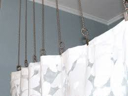 How To Extend Curtain Rod Length Suspended Shower Curtain Ideas Bendable Rods