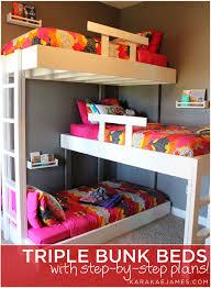 Build A Bunk Bed Triple Bunk Beds With Plans U2014 Kara Kae James