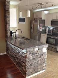How To Install Backsplash In Kitchen by Best 25 Stone Kitchen Island Ideas Only On Pinterest Stone Bar