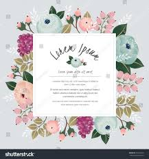 Border Designs For Birthday Cards Vector Illustration Beautiful Floral Border Flowers Stock Vector