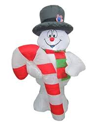 amazon com frosty the snowman airblown inflatable with led