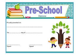 preschool diploma preschool diploma certificate template 2 the best template collection