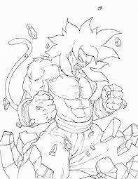 dragon ball z goku super saiyan 4 coloring pages coloring home